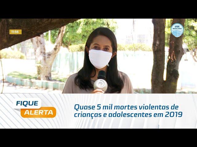 Quase 5 mil mortes violentas de crianças e adolescentes em 2019 no Brasil