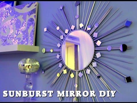 Sunburst mirror DIY Lustro słońce