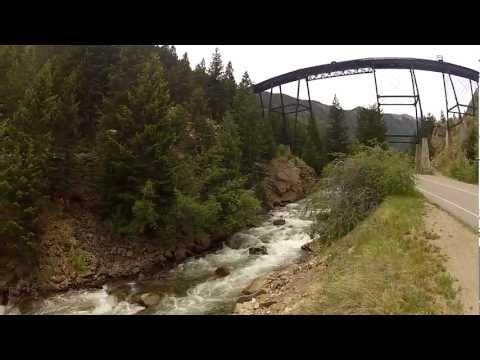 Main Bridge over River - Georgetown Loop Railroad Colorado Historic Train