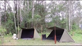 Bushcraft Shelter  - Army Pup Tent / Shelter Half Modification