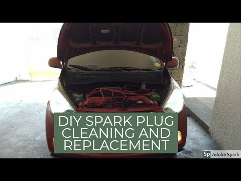 HOW TO REPLACE AND CLEANING SPARK PLUGS FOR HYUNDAI EON