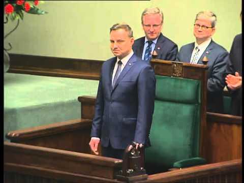 Otwarcie pierwszego posiedzenia Sejmu VIII kadencji