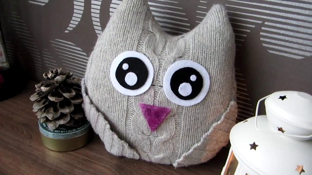 Игрушка ( подушка сова, i Мягкая игрушка сова.Эта птичка - совушка, сонная головушка