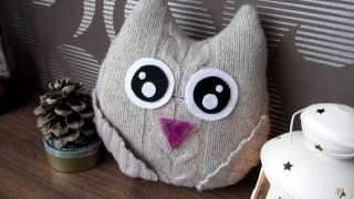 видео Подушка сова своими руками