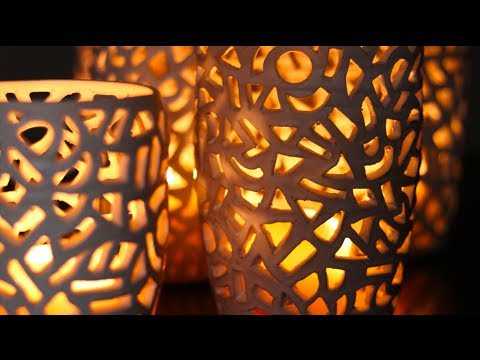 Making Carved Luminaries out of Clay!  These things are AWESOME!!