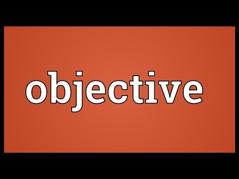 Objective Meaning