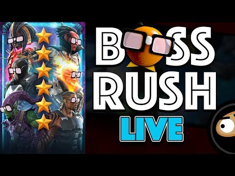 BOSS RUSH CHALLENGE: First Encounter with 6 Star Champs! LIVE