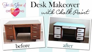 Thrifted Desk Makeover With Chalk Paint