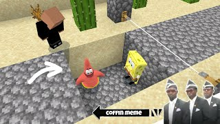 Traps for Spongebob and Friends in Minecraft Part 3 - Coffin Meme