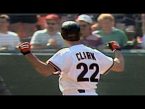 1989 NLCS Gm5: Clark drives in a pair with a single