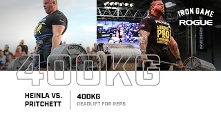 Full Live Stream | Heinla vs. Pritchett 400KG Deadlift For Reps Record Attempt