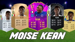 MOISE KEAN ULTIMATE TEAM CARDS FROM FIFA 18 TO FIFA 20 FT 87 FUTURE STARS KEAN