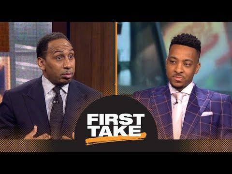 Stephen A. to CJ McCollum: Trail Blazers should trade you or Damian Lillard | First Take | ESPN