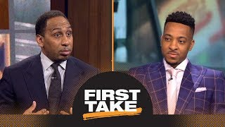 Stephen A. to CJ McCollum: Trail Blazers should trade you or Damian Lillard | First Take | ESPN