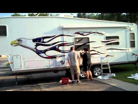 Installing Vinyl Graphics YouTube - Custom rv vinyl decals