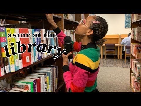 ASMR at the library 📚