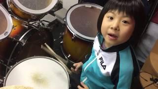 """北海道石狩市在住、小1ドラマー""""よよか""""のドラム講座 ツインペダル編 ..."""