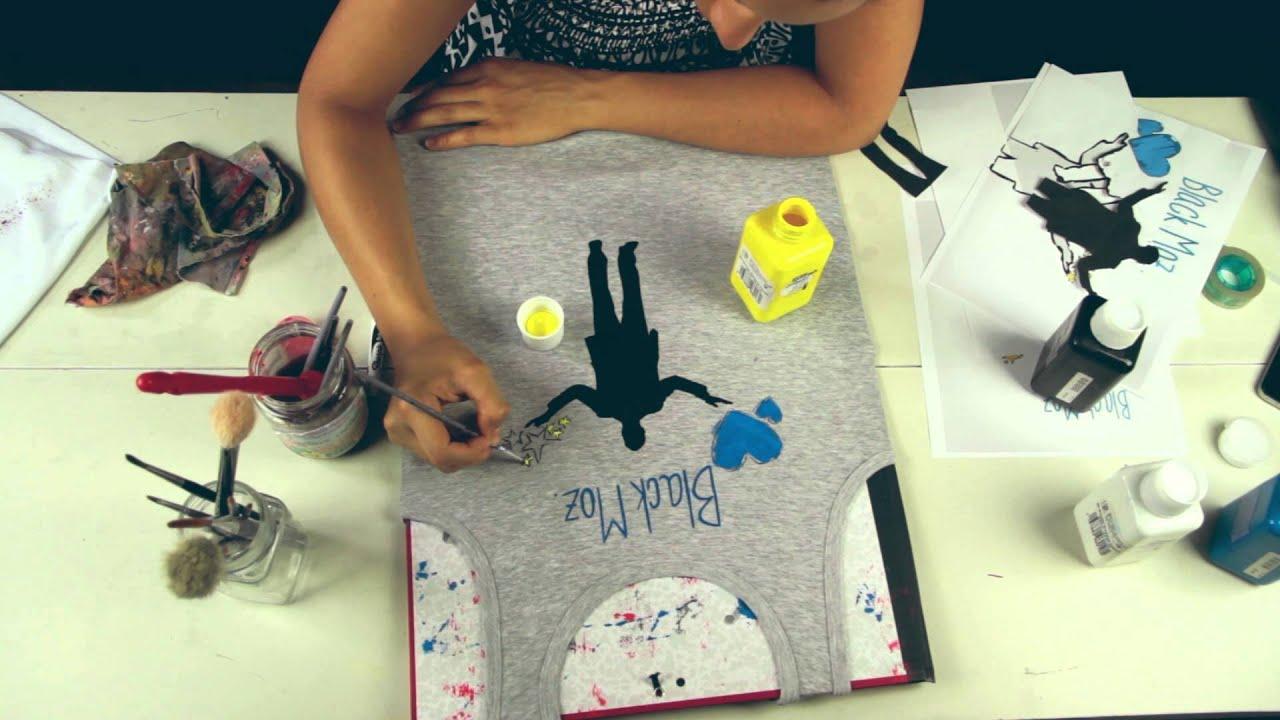 Diy Custom Hand Painted T Shirt By Jessica Valoise Ex Khacijay Black Moz