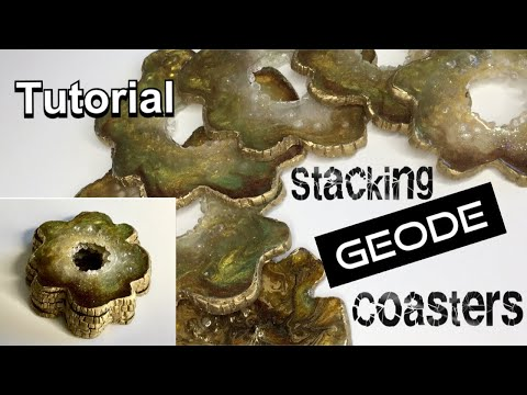 How to make stunning, stacking geode coasters from resin. From mould making to the resin pour. 2019