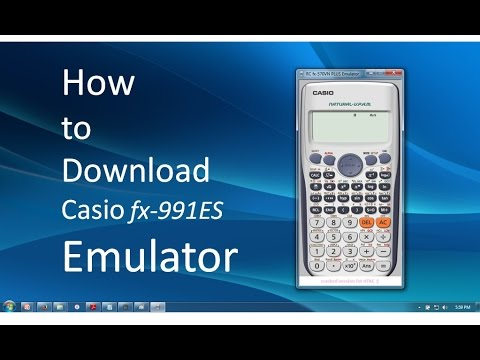 How To Download Casio Fx 991es Emulator For Windows Youtube
