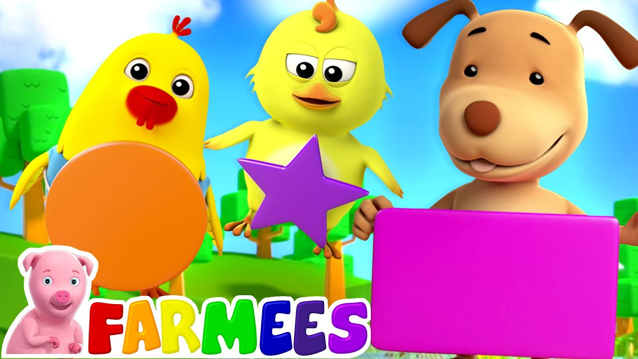 The Shapes Song | Learn Shapes Names | Preschool Videos for Kids | Nursery Rhymes & Songs by Far
