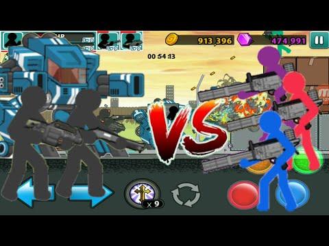 Robot & Explosive Team VS Micro Gun ARMY // Anger Of Stick 5 Uncut