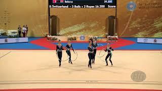 Ukraine (UKR) - 2018 Rhythmic Worlds, Sofia (BUL) - Qualifications 5 Hoops