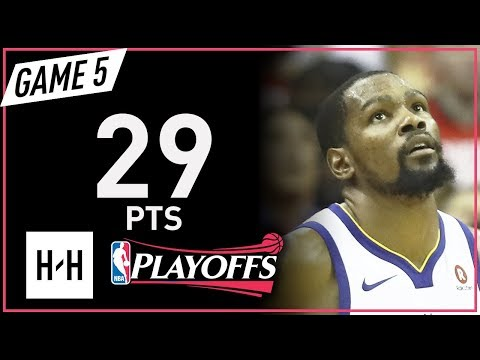 Kevin Durant Full Game 5 Highlights Warriors vs Rockets 2018 NBA Playoffs WCF - 29 Pts!