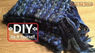 DIY Learn How To Easy Weave Scarf - Perfect Gift