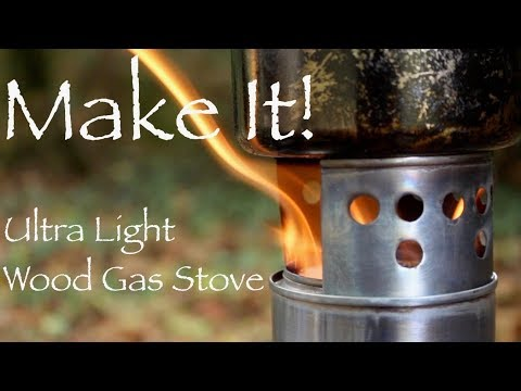 Ultralight Wood Gas Stove.  How to Make a Super Light and Compact Backpacking Twig Stove.