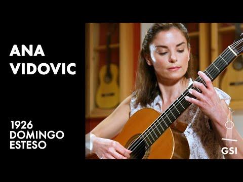 """Ana Vidovic plays """"Sonatina - I. Allegretto"""" by Federico Moreno Torroba on a 1926 Domingo Esteso"""