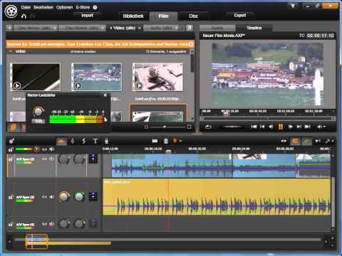 Audio Masterpegel in Avid studio und Pinnacle Studio