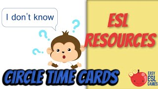 Classroom Language Cards -  Easy ESL Games Video #22