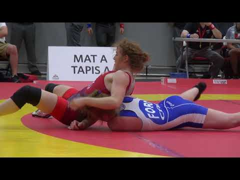 2017 Non Olympic Weight World Team Trials WW55kg Sam Stewart (Blackbears) vs Diana Weiker (Brock)