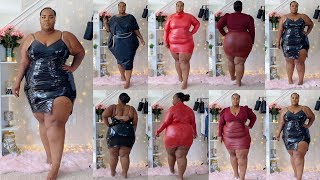 ALL Leather Try-On Haul | Dresses + Purses | Plus Size & Curve Collection