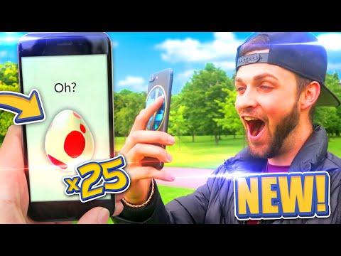 WHAT'S INSIDE...? Opening x25 *NEW* EGGS! - Pokemon GO