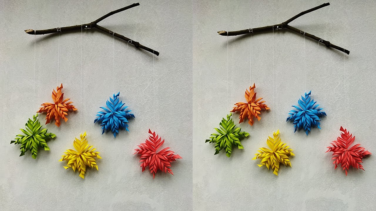 DIY Paper Flower Wall Hanging Ideas for Room Decoration | Paper Flower Home Decor