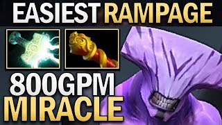 MIRACLE FACELESS VOID WITH EASY RAMPAGE - DOTA 2 GAMEPLAY
