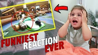 TODDLER REACTS TO HER FUNNIEST BABY VIDEOS *extremely cute*