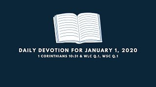 Daily Devotion for January 1, 2020