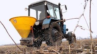Первая подкормка озимой пшеницы. Выращивание пшеницы ч.1. #СельхозТехникаТВ