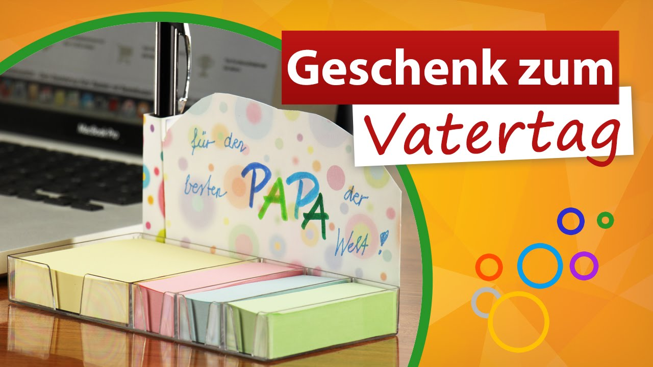 geschenke zum vatertag von kindern notizzettel f r papa. Black Bedroom Furniture Sets. Home Design Ideas
