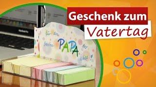 ✂ Geschenke zum Vatertag von Kindern 💙 Notizzettel für Papa - trendmarkt24