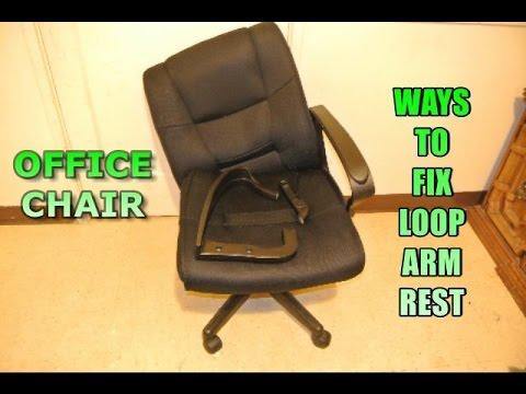 office chair armrest tiny table and chairs ways to fix a loop arm rest youtube