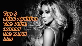 Top 9 Blind Audition (The Voice around the world 115)