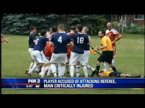 Soccer player accused of punching referee, critically injuring him
