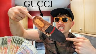 MY NEW GUCCI SLIPPERS!