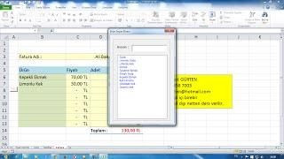 Excel Liste İçerisinde Süzme, Formül ile ve Makro ile