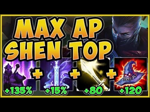 WTF RIOT?? ONE SHEN AUTO DOES 15% OF MAX HEALTH? AP SHEN SEASON 9 TOP GAMEPLAY! - League of Legends