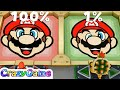 Super Mario Party Making Faces - Mario & Peach & Jr. Bowser & Bowser Gameplay | CRAZYGAMINGHUB
